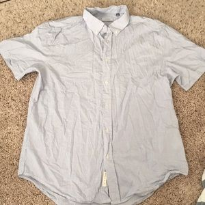 """""""Five Four"""" Blue and white senna button up"""